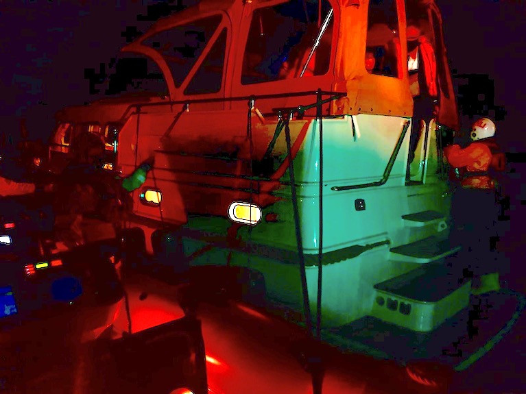 Lough Derg RNLI assisted four people on the 35-foot motor cruiser