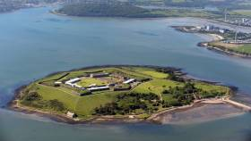 Fortress Spike Island saw off competition from the Eiffel Tower, Buckingham Palace and Rome's Colosseum to win the award