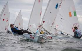 Ireland's Eve McMahon competing in the Laser Radial Class at the Youth World Championships