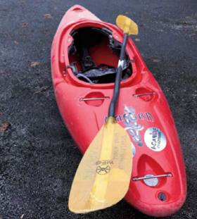 The Kayak involved in the accident