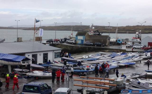 Just some of the 120–boat Laser fleet that assembled in West Cork for the Laser Munster Championships