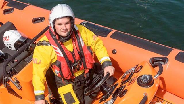 Newly appointed Kinsale RNLI helm Jonathan Connor