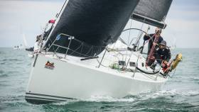 A J/109 racing at the Royal Irish Yacht Club regatta at the weekend