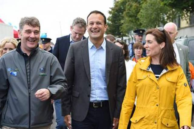 Marine Institute CEO Dr Peter Heffernan with Taoiseach Leo Varadkar and Hildegarde Naughton TD out and about at SeaFest on Saturday 1 July
