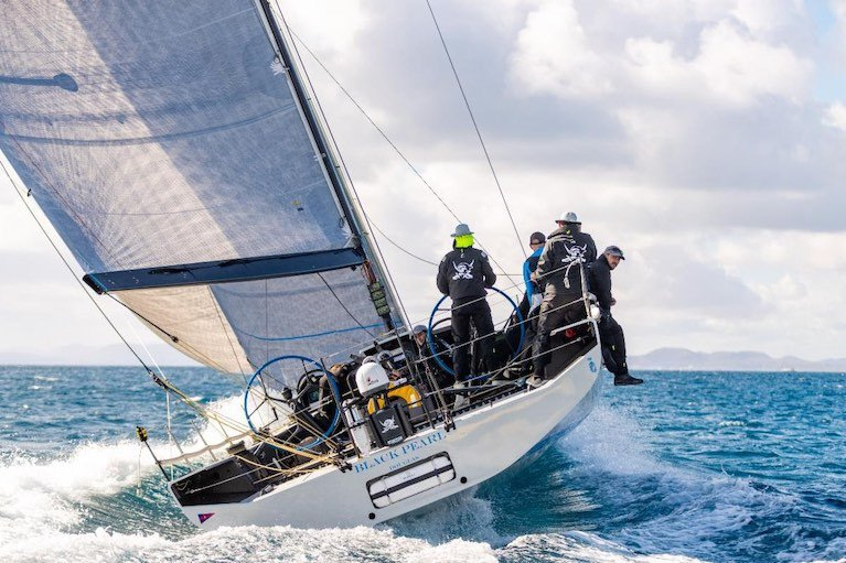 IRC56 Black Pearl, sailed by Stefan Jentzsch retires from the RORC Transatlantic Race