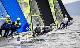 49er pair Ryan Seaton and Matt McGovern from Belfast were unable to match their 2014 silver medal form at Hyeres Sailing World Cup in France this week