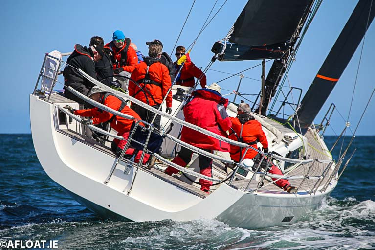 Cruiser racing on Dublin Bay in 2019 in a Class Zero yacht (40-foot and above)