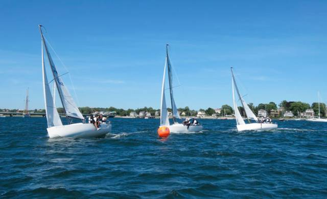 Short races at the North Sails training camp in Newport, Rhode Island