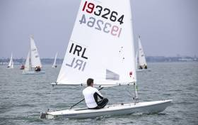 Laser racing on Dublin Bay