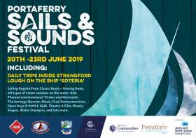 The Portaferry Sails & Sounds Festival will be held on Strangford Lough from 20th – 23rd June