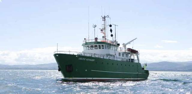The Marine Institute's Celtic Voyager has been assisting in the search for the wreckage of RII6