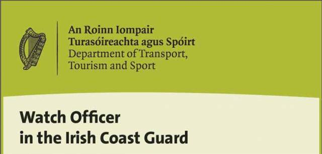 Watch Officer in the Irish Coast Guard