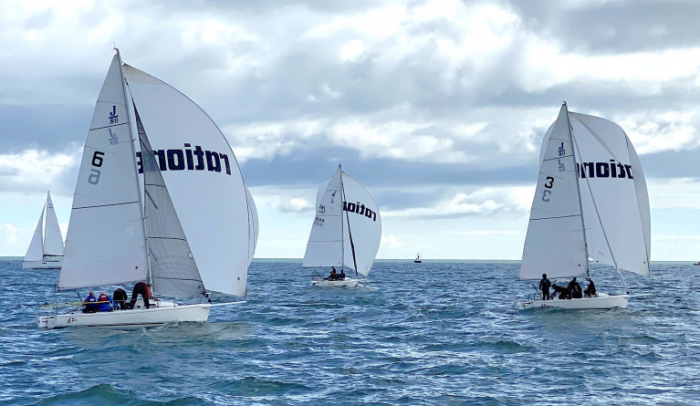 J80s contesting National honours on Dublin Bay