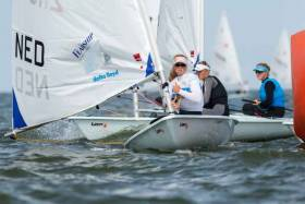 The first day of racing at Medemblik was delayed due to light winds.