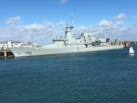 The Naval Service newest addition the OPV90 class LÉ William Butler Yeats which made a maiden call to Dun Laoghaire Harbour this weekend
