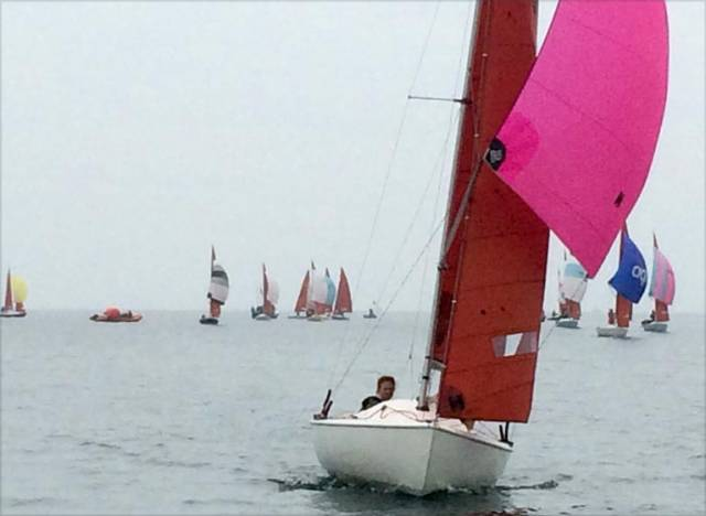 Light winds of force 2 or less prevailed at the Squib UK Nationals in Torquay
