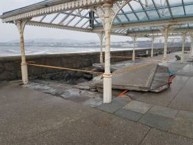 Damage to Dun Laoghaire Harbour sustained during Storm Emma