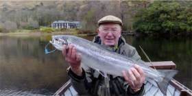 Peter O'Reilly with a Delphi salmon in April 2016