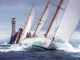A race and a place imbued with history – the Rock is astern in 2015's Rolex Fastnet Race with the classic Stormy Weather (overall winner in 1935) leading from fellow-classic Dorade (overall winner in 1931 and again in 1933).