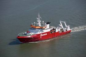 The MV Fugro Discovery is conducting survey operations off the North West Coast this week
