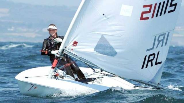 Laser Sailors Lynch & Hopkins in Miami for 2018 World Cup Sailing Series