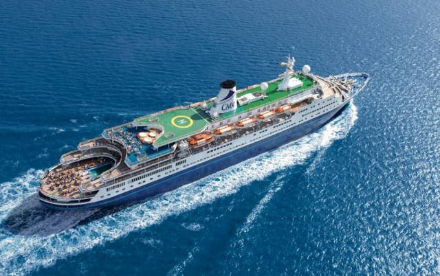 Cruise & Maritime Voyages Marco Polo, a former transatlantic liner that has a loyal following among cruise-goers