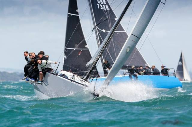 Salvo from IRC 2015 PW.jpg Peter Morton's JND35, Salvo won the IRC National Championship in 2015