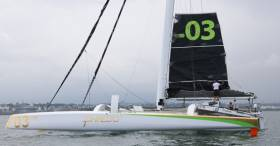 A pro crew will make a Round Ireland speed record bid tomorrow from Dublin Bay