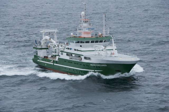 The RV Celtic Explorer will carry out this year's groundfish survey between 14 February and 17 March
