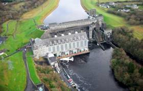 Ardnacrusha lock on the river Shannon