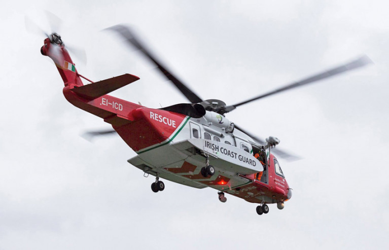 Rescue 115 was dispatched for the medical evacuation from a Spanish trawler on Tuesday afternoon