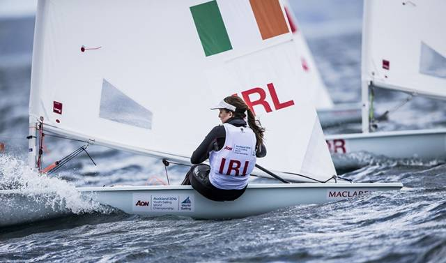 The National Yacht Club's Nicole Hemeryck was ninth in Race six, her fourth top ten result of the series so far