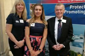 RYANI Chair Jackie Patton, Abbie Brown and Graham Skelton