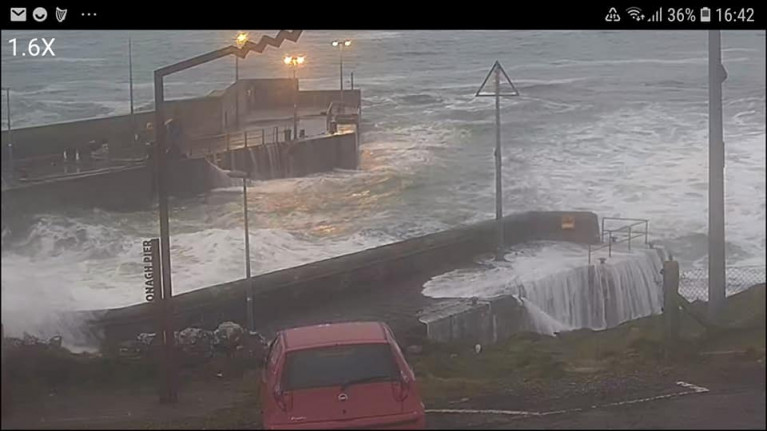 Roonagh Pier, Louisburgh which was posted on Facebook by the Co. Mayo ferry operator.