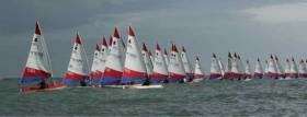 Topper racing at the third Winter Regatta on Dublin Bay