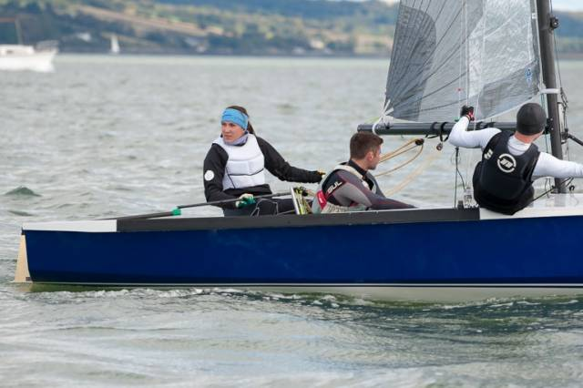 Annalise Murphy and Seafra Guilfoyle are one of six combinations through to the All Ireland finals tomorrow in Cork Harbour. Scroll down for Photo Gallery