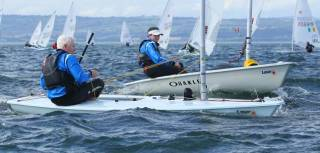 Laser racing at Ballyholme Yacht Club for the National Title