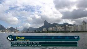 Sailing in Rio is delayed due to lack of wind