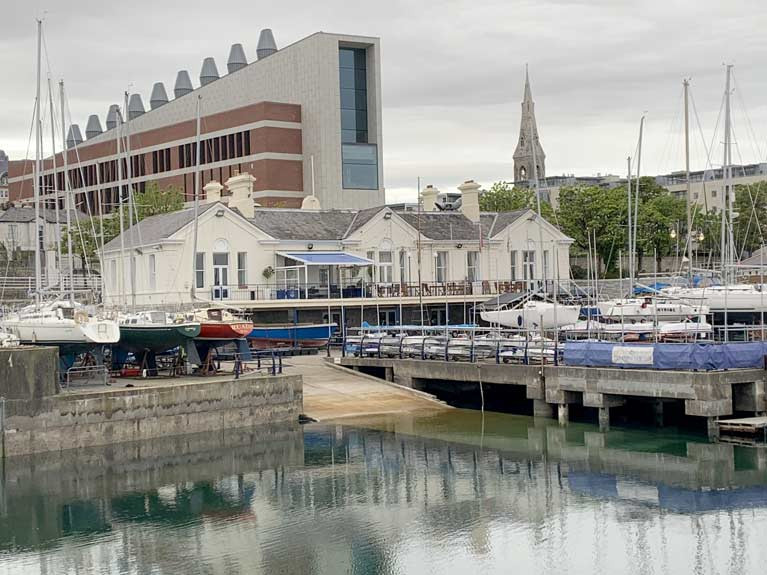 The National Yacht Club on Dun Laoghaire's East Pier