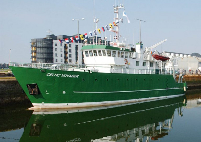 File image of the RV Celtic Voyager, which will cary out the SeaMonitor survey from 27 February