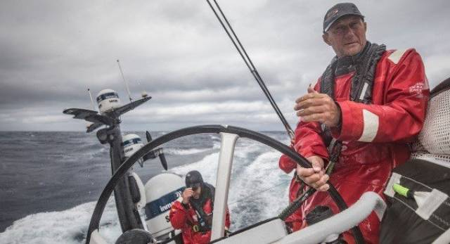 John Fisher – was untethered in order to tidy sheets when there was an accidental crash gybe, according to a Team Sun Hung Kai/Scallywag crew report. See full report below
