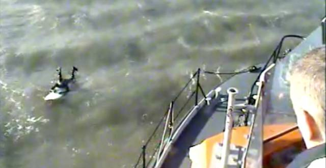 Surfer Caught in Rip Current Rescued by Rosslare Harbour RNLI off Wexford Coast (VIDEO)