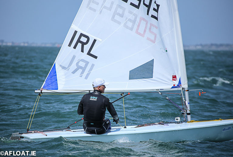 Sean Craig was the winner of the second Laser Radial race