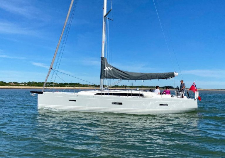 New owners Richard and Anne take their X4³, XETA, out on the Solent