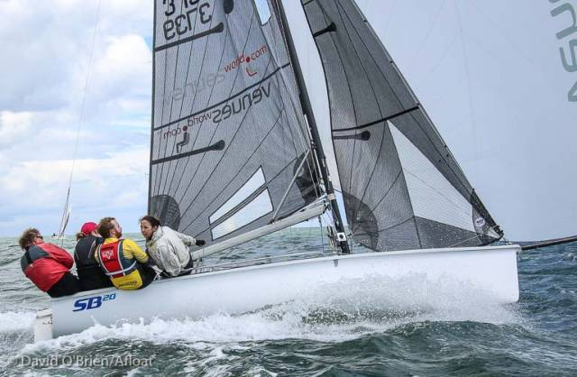 High speed sailing in an SB20 on Dublin Bay with Ger Dempsey on the tiller