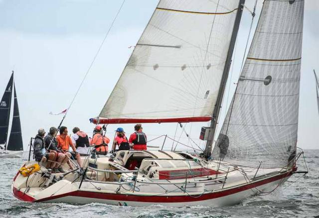 Jonathan Nicholson's Red Rhum from the Royal St. George Yacht Club was second in DBSC Cruiser 2 IRC