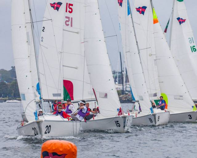 A dozen teams from 10 countries, including Ireland, Japan, Argentina and Australia, traveled to Newport for a frenetic weekend of sailing