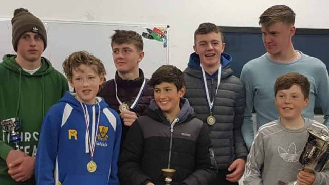 Battle of the classes winners on the podium in Tralee Bay