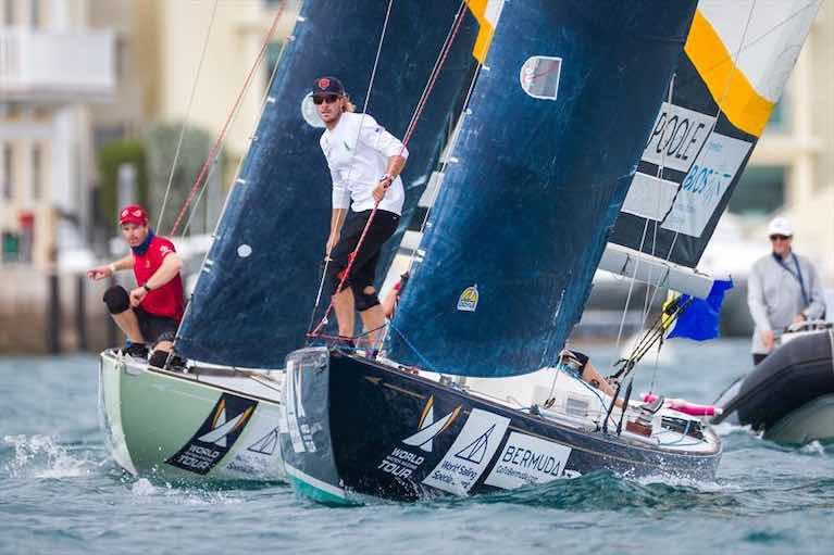 The 70th Annual Gold Cup Match-Racing Worlds in Bermuda is being raced in the GRP-built version of a classic 1936 boat, the International One Design