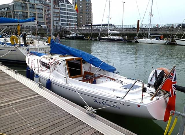 A thoroughbred H Boat in cruising use, seen in Ostend in Belgium ten days ago. (The boat pictured is not for sale)